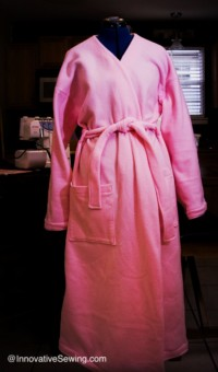 Sewing Project  Fleece Robe